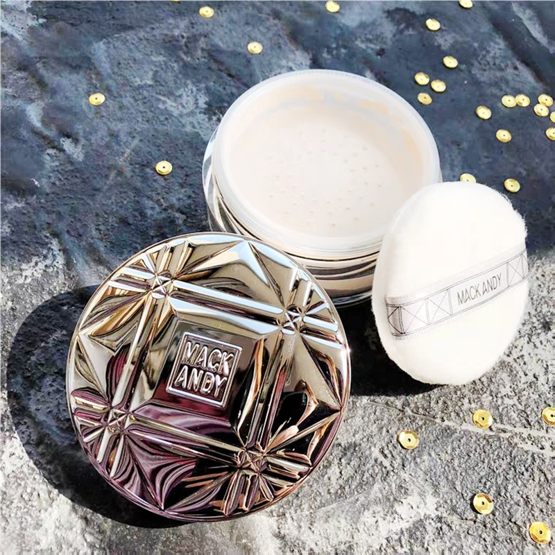 Large New Year Xmas Gift Face Setting powder Makeup Loose Powder Foundation Contour Makeup Waterproof With Soft Comestic Puff image
