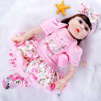 NPK-Muñeca realista de bebé Reborn de 55Cm para recién nacido, muñeca de juguete para niña, muñeca de tela suave, muñecas de vinilo para bebé vivo, regalo de por vida