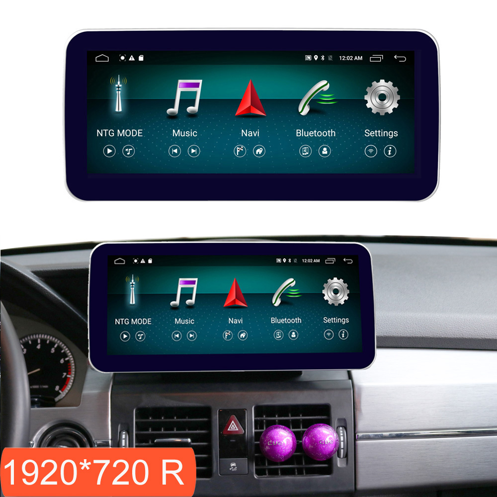 10.25 polegada 4 + 64g android display para mercedes benz glk x204 2008-2012 tela de rádio do carro gps navegação bluetooth tela de toque