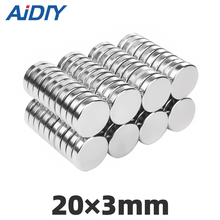 AI DIY 5/20/50 pcs 20x3mm permanent magnet N35 small round super strong powerful neodymium Rare Earth magnets 20*3mm