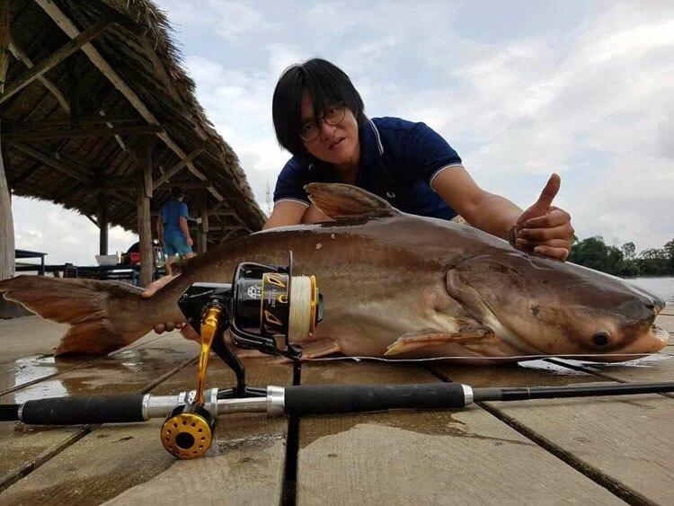 pesca de água salgada fiação jigging carretel