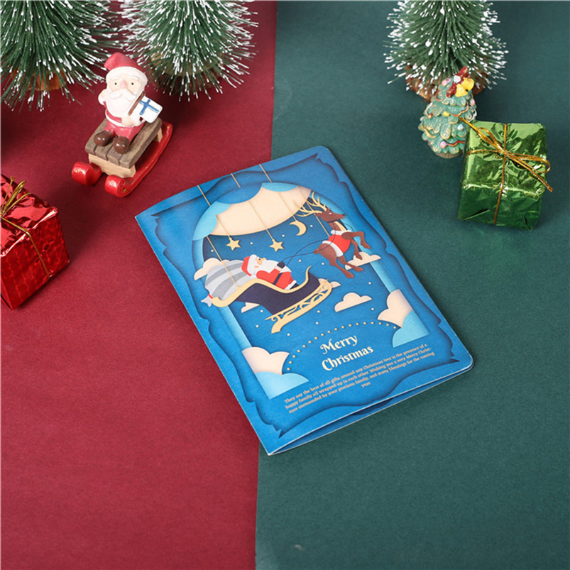 Christmas Card Set Santa Claus Elk Snowman Diamond Painting DIY Holiday Card 30 x 15 x 2cm Merry Christmas Navidad 40OCT76