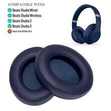 Almofadas de substituição para fones de ouvido sem fio beats studio 3 (azul marinho)