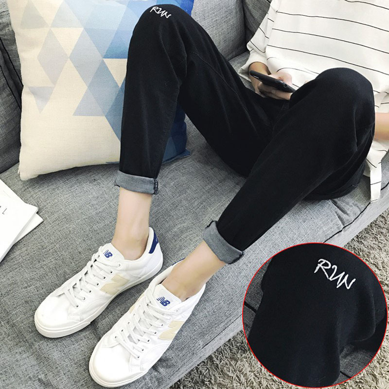 Jeans Men Spring New Style 2017 Slim Fit Teenager Thin Black Ankle-length Skinny Pants