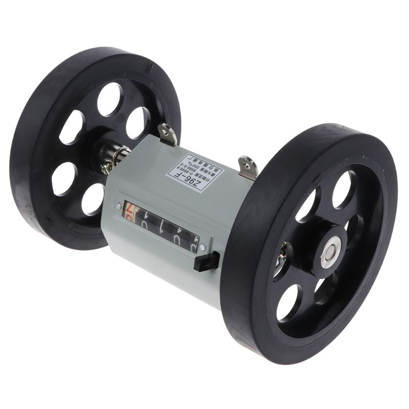 Z96-F Mechanical Length Distance Meter Counter Double Rolling Wheel 0-9999.9m