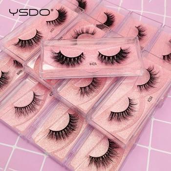 YSDO 1 Pair 3D Mink Eyelashes Fluffy Dramatic Eyelashes Makeup Wispy Mink Lashes Natural Long False Eyelashes Thick Fake Lashes 1