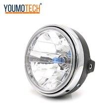 Motosiklet yuvarlak kafa ışık kristal far ön lamba kafa ışık Honda CB400 VTEC I II III IV CB750 VTR250 CB Hornet 250
