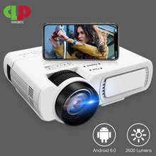 POWERFUL T5 mini Projector 800*600dpi Support 1080P 2600lumens Android 6.0 Optio
