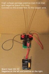 Image 5 - Haute tension Arc Jacob échelle expérience bricolage expérience Kit Tesla bobine physique expérience geek jouet ZVS 24V 200W alimentation