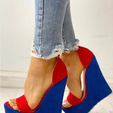 2020 New Sexy Women Wedges Sandals Summer Mixed Colors Platform Sandals