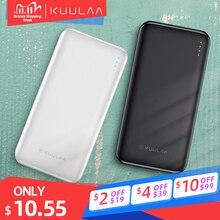 Carregador portátil de 10000 mah kuulaa, banco de energia externo paca carregar celulares xiaomi mi 9, 8, 3 mah usb iphone