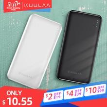 KUULAA Batería Externa 10000mAh Portátil Banco de Energía Dual USB Delgada Cargador para Móvil para Xiaomi Mi iPhone Huawei