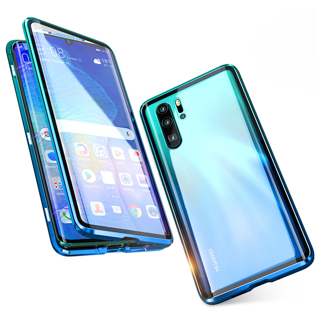 Luxury Full Body Protective Magnetic Case For Huawei P30 Pro P20 Mate 20 Pro 360 Tempered Glass Back Cover Huawei P30Pro Case On 6
