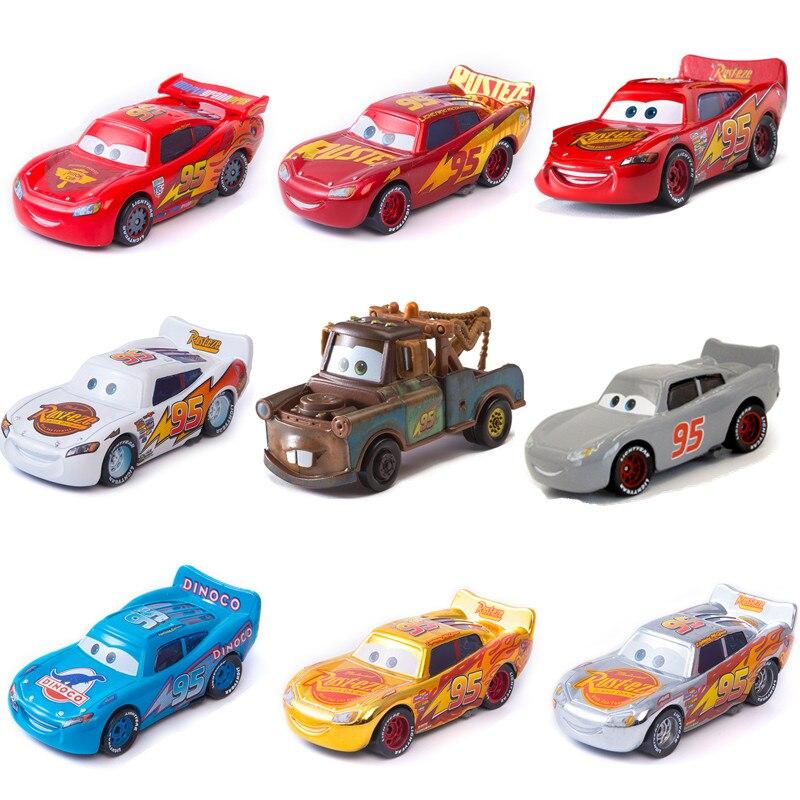 Disney Pixar arabalar 2 3 yıldırım McQueen Jackson fırtına Ramirez 1:55 Diecast araç Metal alaşım oyuncak model oyuncak araba hediye
