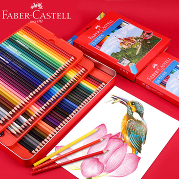 Faber Castell Water Soluble/Oily Colored Pencil 12/24/36/48/60/72/100 Colors Professional Painting Color Pencil for Art Supplies faber castell oily colored pencil 24 36 48 72 100colors professional painting set color pencils for drawing sketch art supplies