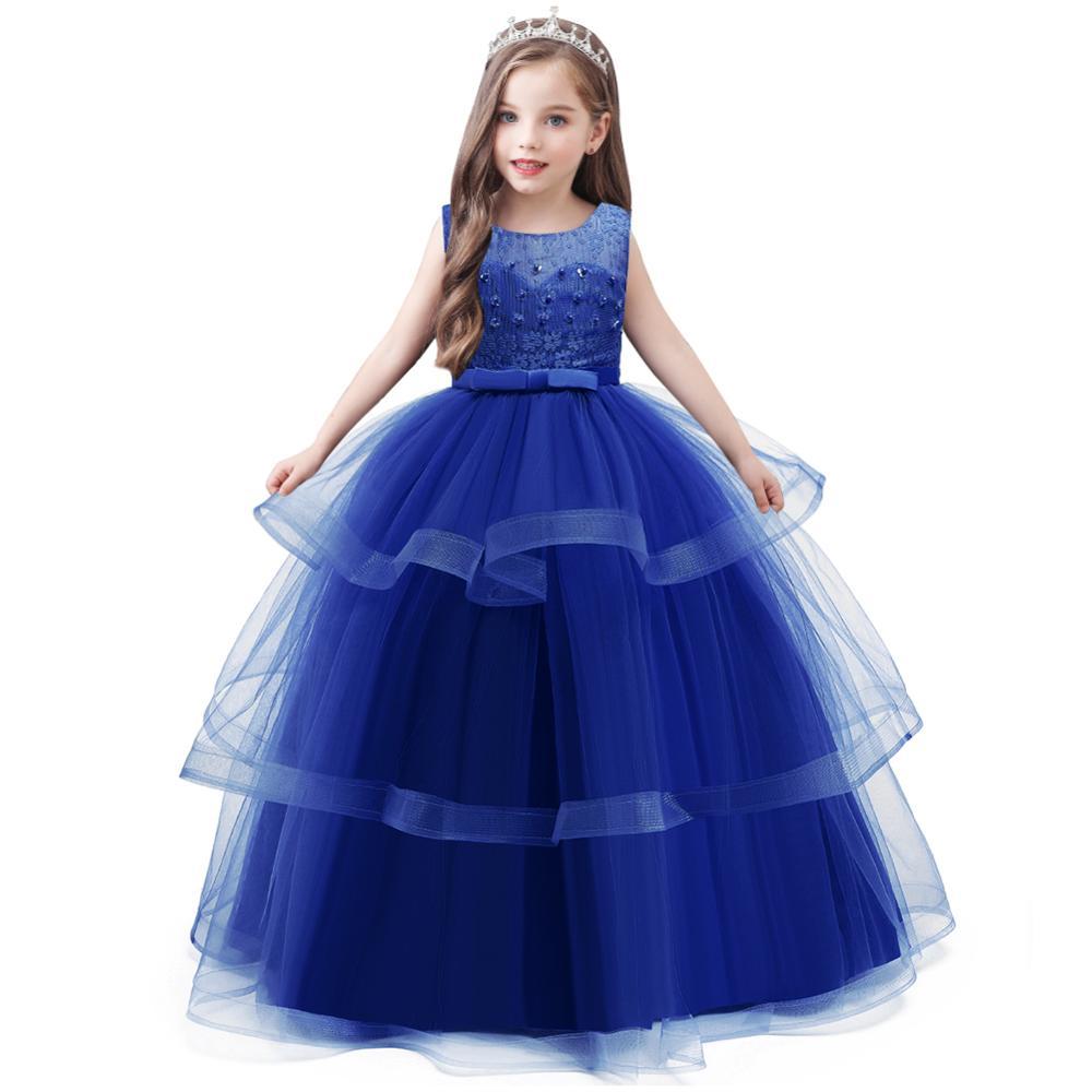 4 Summer Kids Dresses For Girls Princess Dress Flower Girl Wedding  Evening Dress Children Party Dress Teenage 4 4 4 4 Years