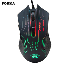 3200DPI Silent Click USB Wired Gaming Mouse Gamer Ergonomics 6Buttons Opitical Computer Mouse For PC Mac
