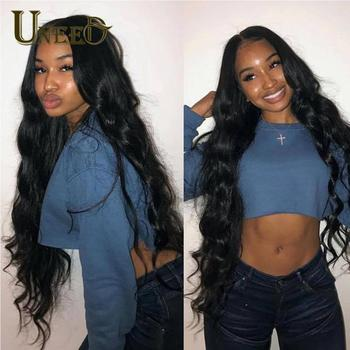 Uneed Peruvian Body Wave Bundles Hair Extensions100% Remy Human Hair Weave Bundles Natural Color Peruvian Hair Bundles Body Wave image