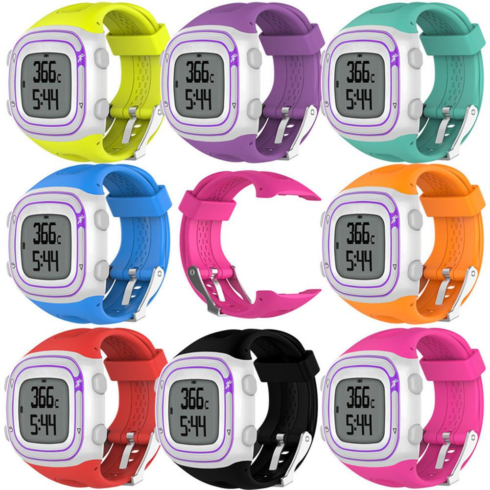 Silicone Replacement Strap Sports Watch Band For Garmin Forerunner 10 15 GPS Running Watch With Tools Multi Color