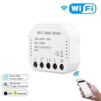 Tuya Wifi Smart Light Switch Diy Breaker Module Smart Life/Tuya APP Remote Control Works with Alexa Echo Google Home