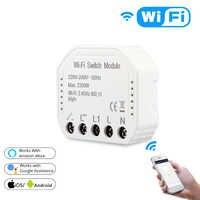 Tuya Wifi interruptor de luz inteligente Diy Módulo de interruptor inteligente vida/Tuya APP Control remoto funciona con Alexa Echo Google Home
