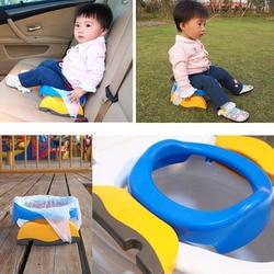 Детское сидение для путешествий, 2 в 1, портативное пластиковое сиденье для унитаза, детский удобный помощник, многофункциональный экологич...