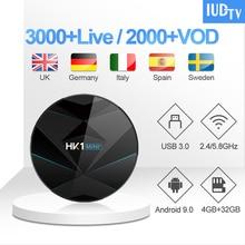 IUDTV 1 Year IPTV Germany Greek Spain TV Receiver HK1 MINI+ Android 9.0 BT Dual-Band WIFI Italia UK Turkey
