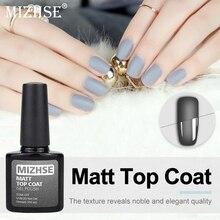 MIZHSE Matte Nail Polish Top Coat Soak off UV Gel Varnishes Stamping Top Nagellak For Nails Surface Primer For Manicure Matte