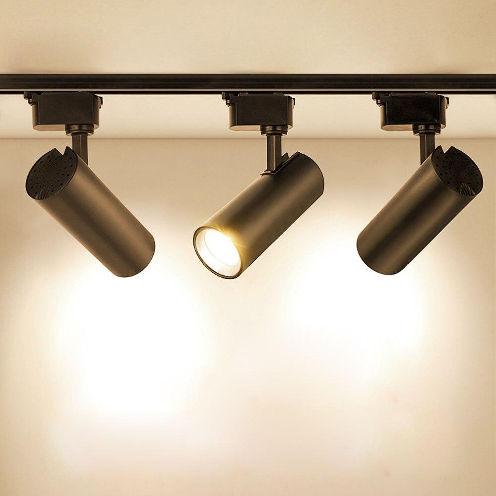 LED COB 10W 20W 30W 40W เพดานติดตามไฟสปอตไลท์เปลี่ยนหลอดฮาโลเจนสำหรับเสื้อผ้า Shop 220V