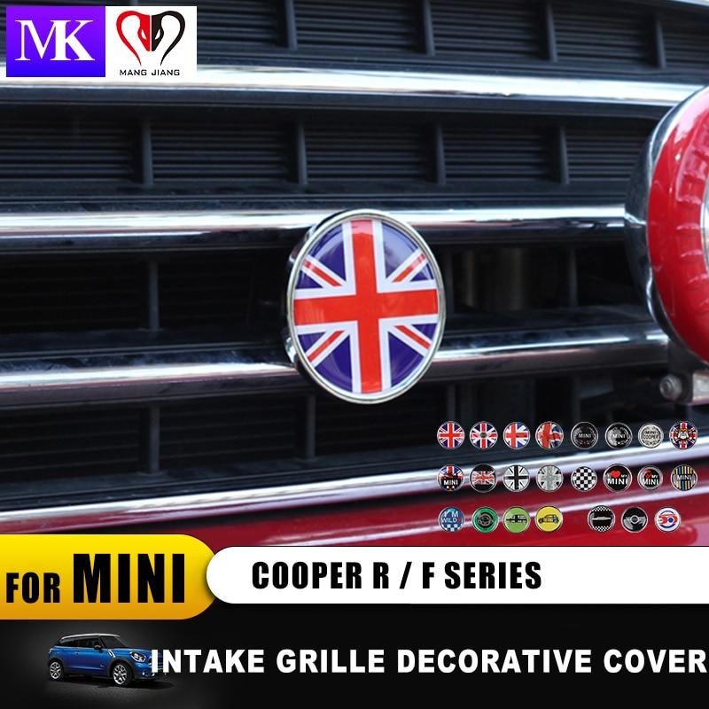 Grade Dianteira Do Emblema Do Emblema do carro de Metal Adesivos Decal para Mini Cooper Clubman countryman One S R55 R56 R57 R58 R59 r60 R61 F55 F56