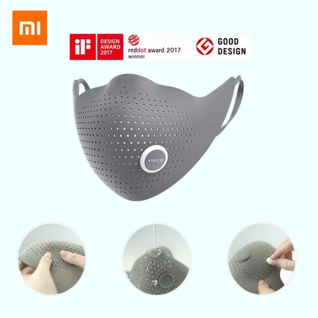 Xiaomi mijia airpop 空気着用 PM0.3 / pm2.5 抗ヘイズと 2 個フィルターアジャスタブル耳かけ快適なフェイスマスク
