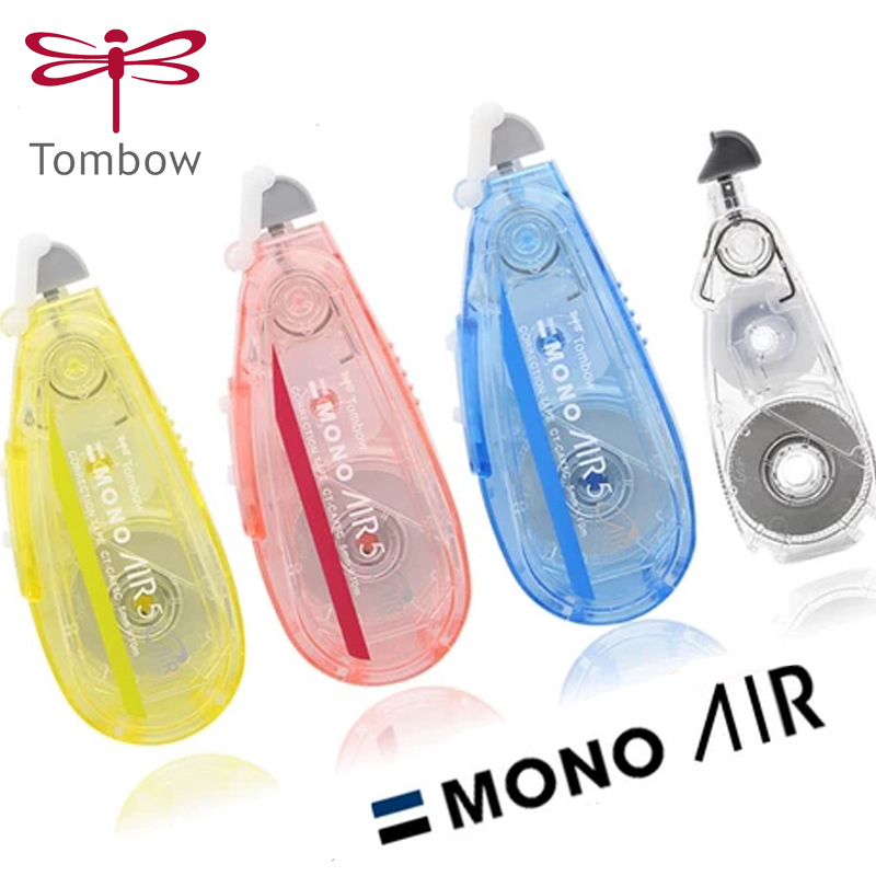 Tombow Kawaii Correction Tape 10m CT-CAX5C 3pcs Mono Transparent Mute Student Use Correction Tape Replacement Core