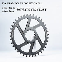 Gxp bicicleta mtb mountain bike 30t/32t/34t/36t/38t coroa bicicleta chainring para sram 11/12s nx xx xo gx gxp11 bandeja de disco único barato