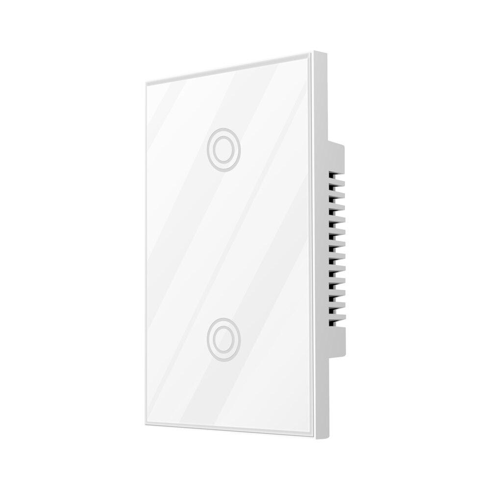 NEO COOLCAM NAS-SC01Z Z-wave Wall Light Switch 2 Gang US Type EU 868.4MHZ Z Wave Wireless Smart Remote Control