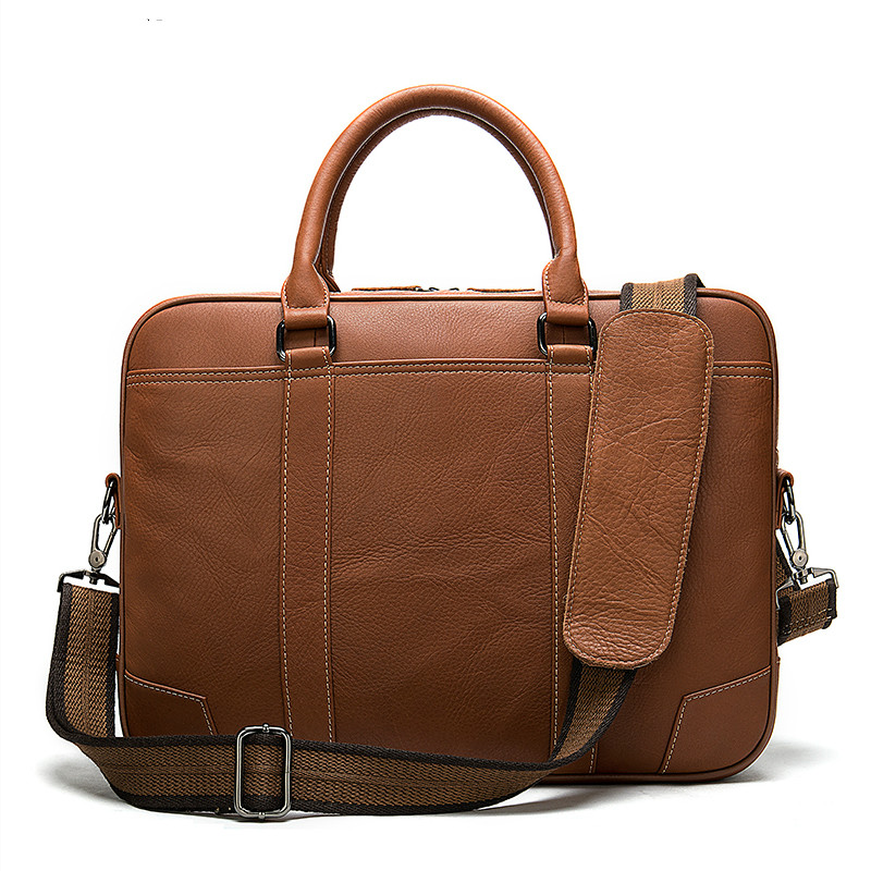 Men's Briefcase 100% Genuine Leather Laptop Bag Men Leather Office Bags For Men Porte Document Business Handbag For Men