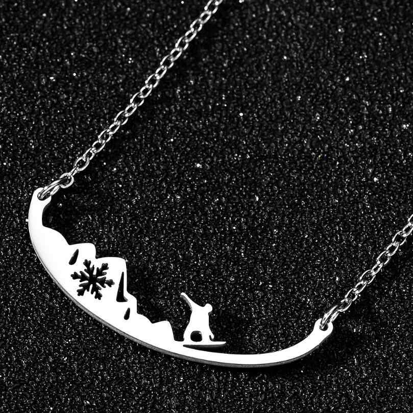 Snowboarding Sign Necklace