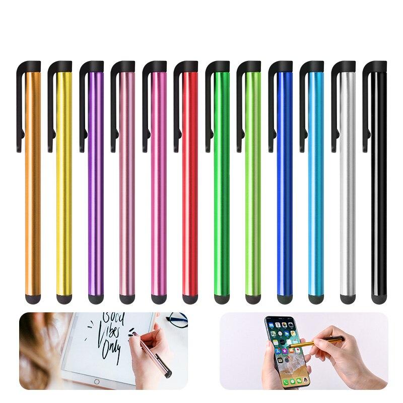 10 шт./лот, емкостная сенсорная ручка, Универсальный Android планшет, мобильный телефон, стилус для рисования, ручка для письма