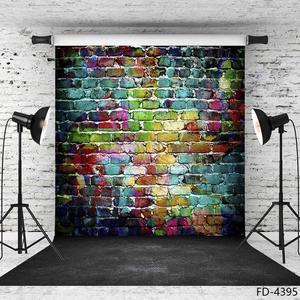 Image 3 - 写真の背景落書きレンガの壁コンピュータ印刷背景子供のためのベビーペット肖像photophone写真撮影の小道具