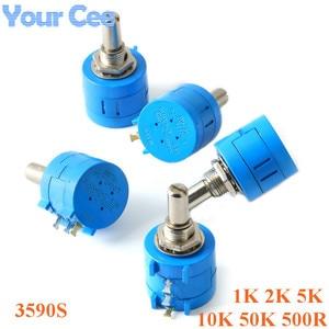 3590S 1 K, 2K 5K 10K 50K 500R ohm проволочный Precision Multiturn Потенциометр переменный резистор 3590 102 103 202 502 103 503