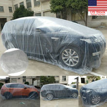 Universal Disposable Car Cover Rain Dust Garage Cover Dust Protection Outdoor Auto Full covers Umbrella(China)