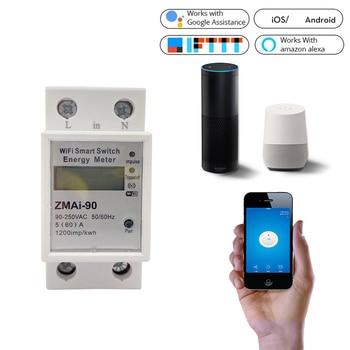 WiFi Smart Power Meter Switch Power Consumption Energy Monitoring Meter 110V 220V font b Din