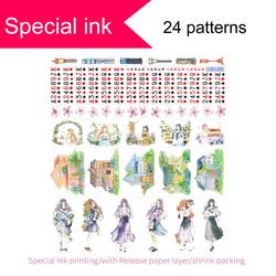 Special ink printing washi tape,Free Shipping in Coupon washi tape, #80304-#80327,watercolor vintage Washi tape,Sale price