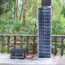 Flexible monocrystalline solar panels 12v 50w applied to Long strip narrow street lamp side strip easy installatio