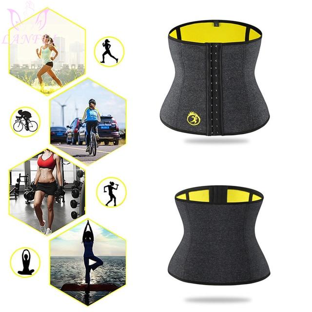 LANFEI S-6XL Body Shaper Corset Waist Trainer Slimming Belt for Women Neoprene Weight Loss Sweat Gym Fitness Modeling Underwear 4