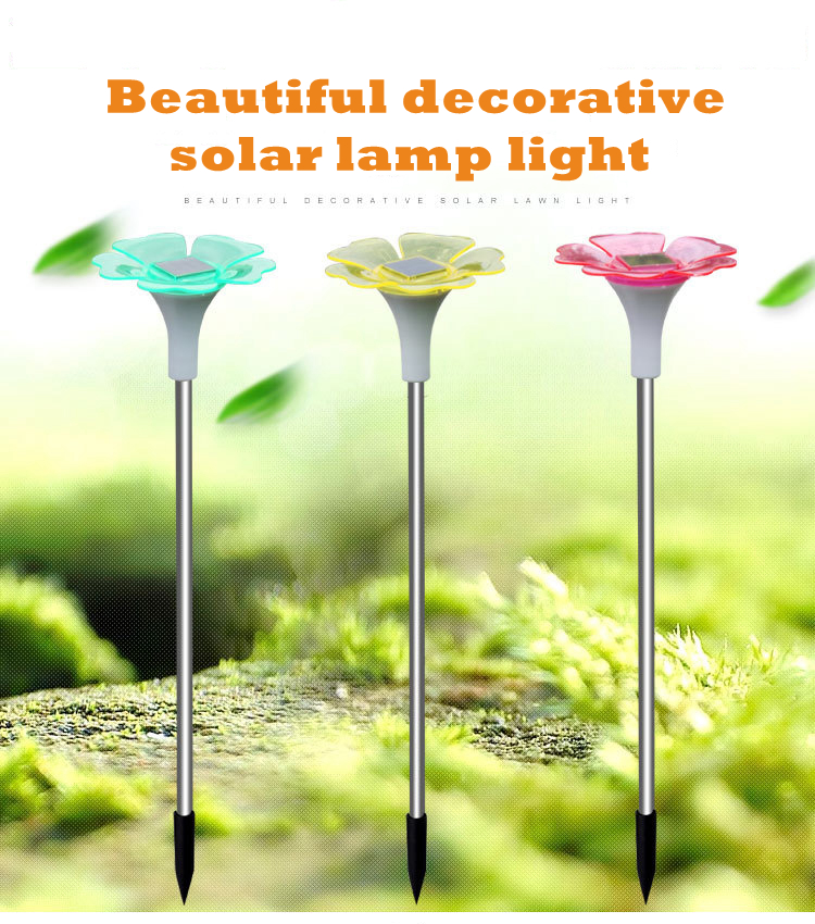 Solar Flower Lamp Garden Sun Flower Light Outdoor Waterproof Lighting LED Fairy Light Lawn Lights Christmas Decoration Lights