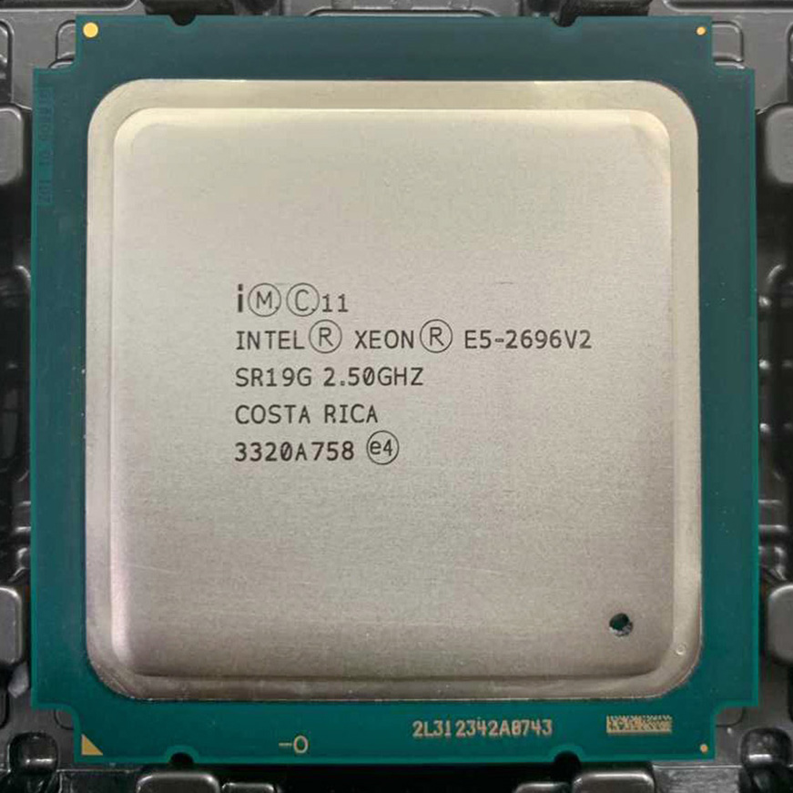 Intel Xeon <font><b>E5</b></font> 2696v2 <font><b>E5</b></font> 2696 V2 <font><b>E5</b></font>-2696v2 2.5GHz 12-Core 24-Thread CPU Processor 30M 115W LGA 2011 suitable for X79 Motherboard image