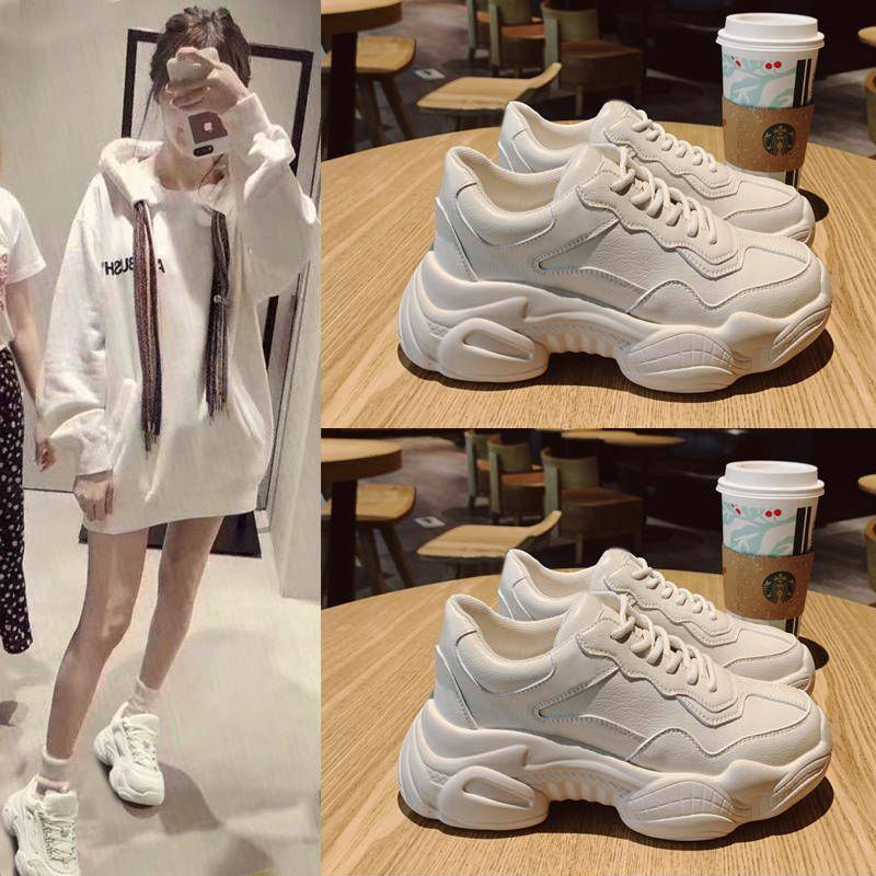 2020 New Lightweight Fashion Dad Shoes Soft And Comfortable Casual Shoes Ladies Sneakers Women Running Shoes Height Increasing