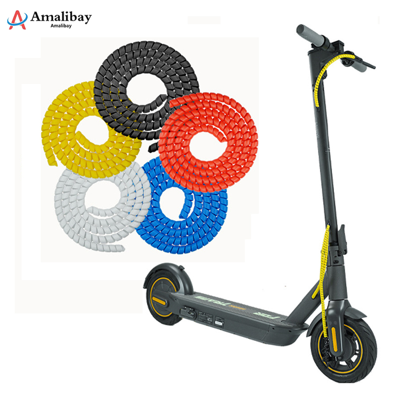 Amalibay Line <font><b>Protector</b></font> for Ninebot Max G30 Electric Scooter Line Tube 1m Length Winding Tubes for <font><b>Xiaomi</b></font> <font><b>M365</b></font> Pro Accessories image