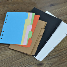 5 Pcs Tabbladen Papier A5/A6 Notebook Plakboek Index Tabs Planner Divider Pagina 'S Met 6 Gaten(China)