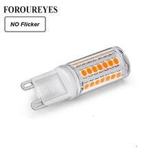 Pode ser escurecido led g9 lâmpada nenhuma cintilação ac110v 220 v 45 leds 2835smd 3 w led suporte de cerâmica lâmpada luzes luzes do candelabro iluminação
